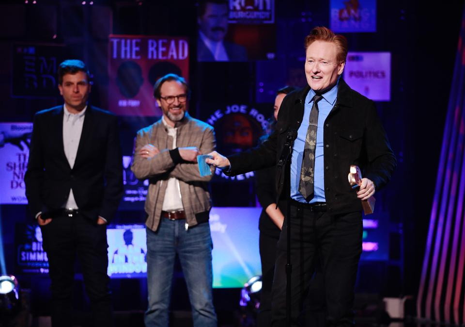 Conan O'Brien winning the Best Comedy Podcast Award