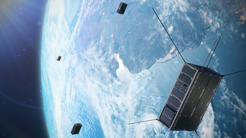 Artist's impression of Kleos satellites.