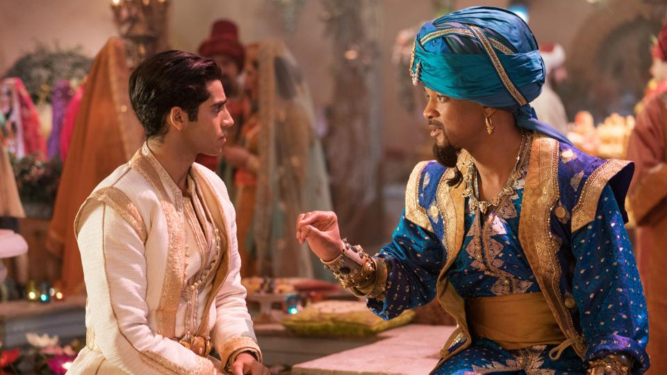 Will Smith is the Genie and Mena Massoud is Aladdin in Disney's live-action ALADDIN, directed by Guy Ritchie