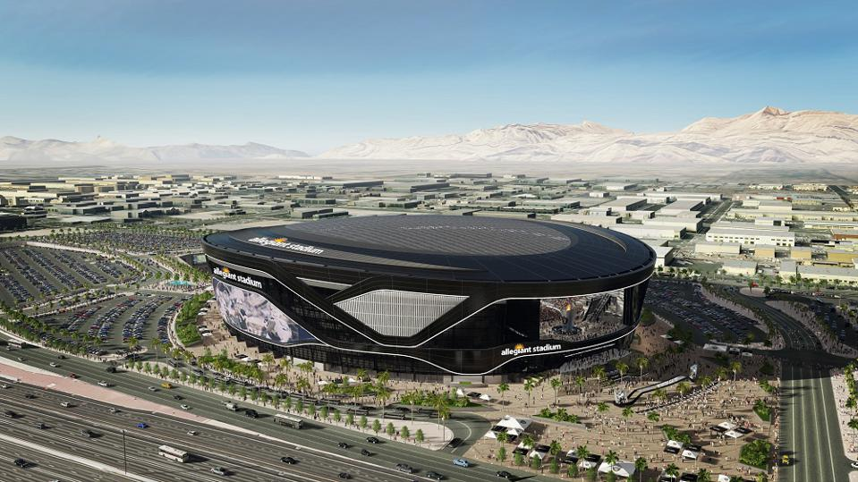 Allegiant Stadium, new home of the NFL's Raiders, is a huge addition to Las Vegas' entertainment