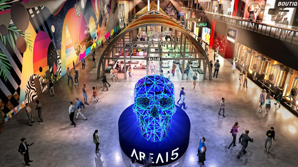 A rendering of new experiential art and entertainment complex Area 15 in Las Vegas.