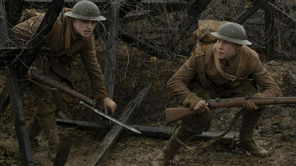 George MacKay and Dean-Charles Chapman in Universal and DreamWorks' '1917'