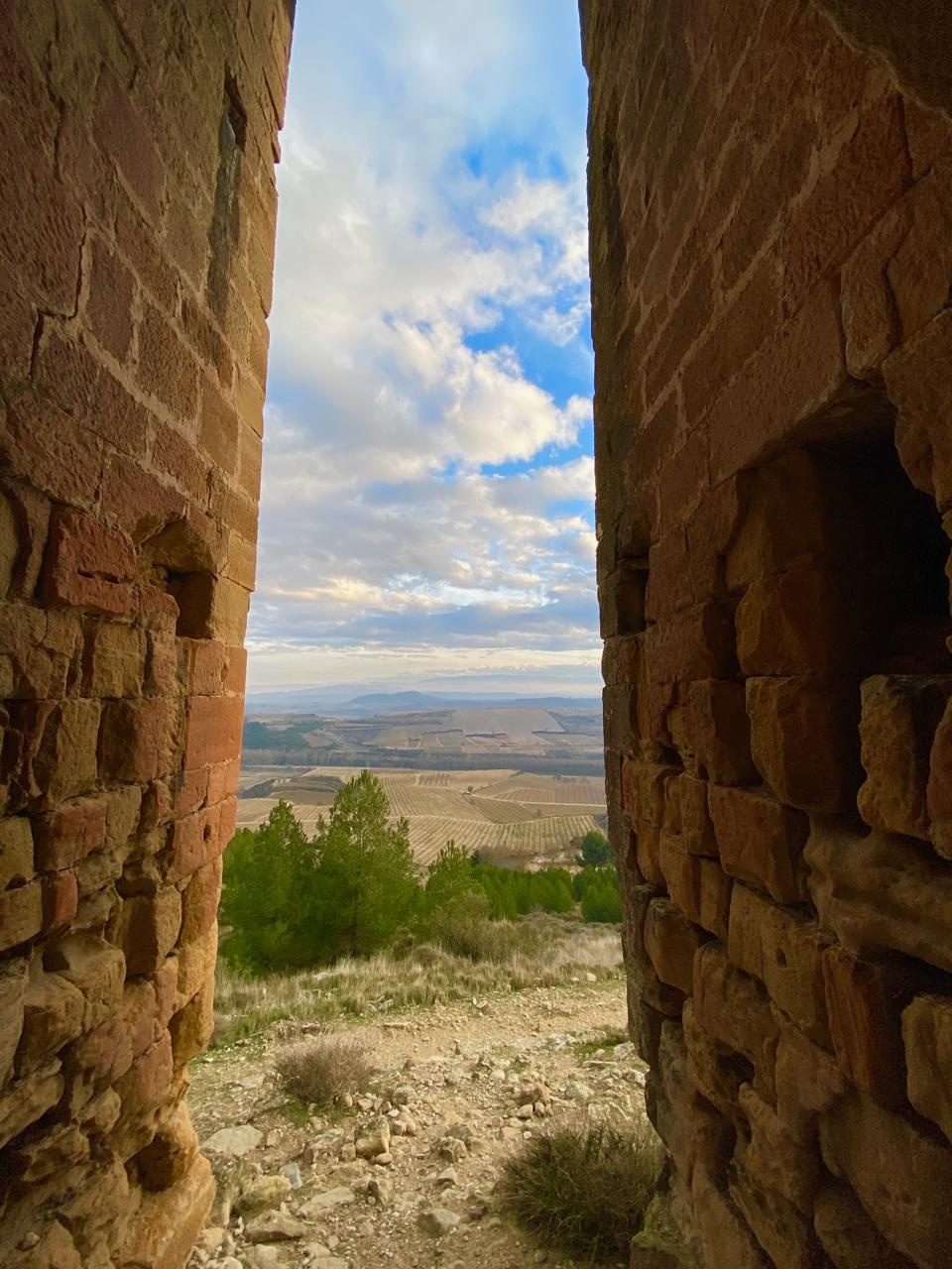 Looking out from Castillo de Davalillo, near Haro