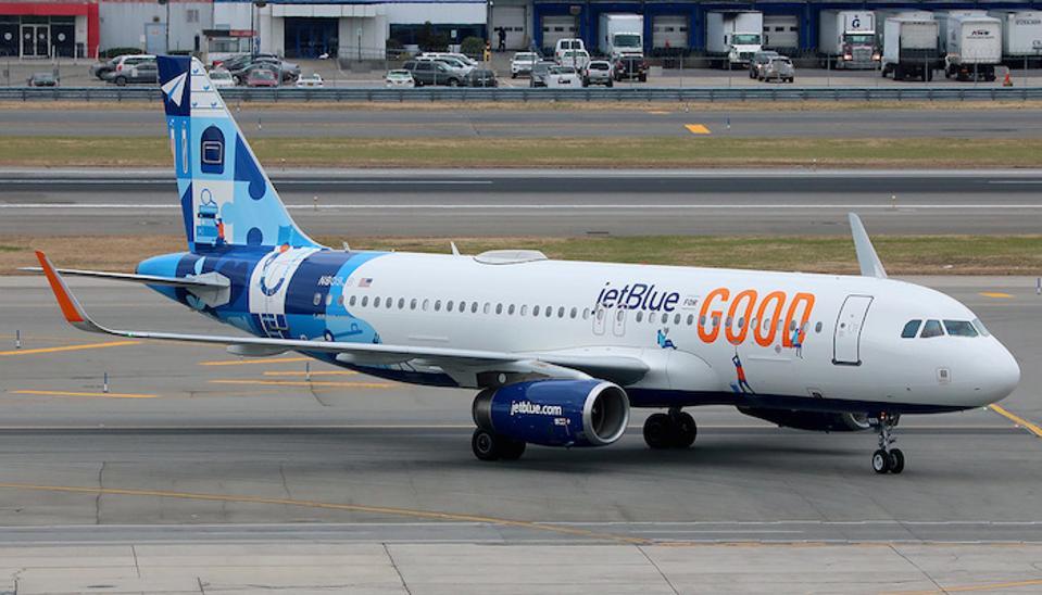jetblueforgood brand plane