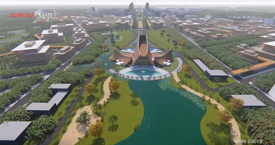 Rendering of the new capital city