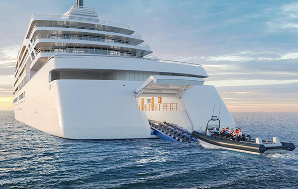 Rendering of RIB Ship Hanger on the Viking Octantis Expedition Ship