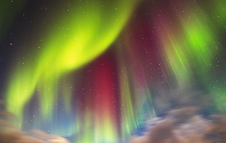 A Display Of The Northern Lights in Norway