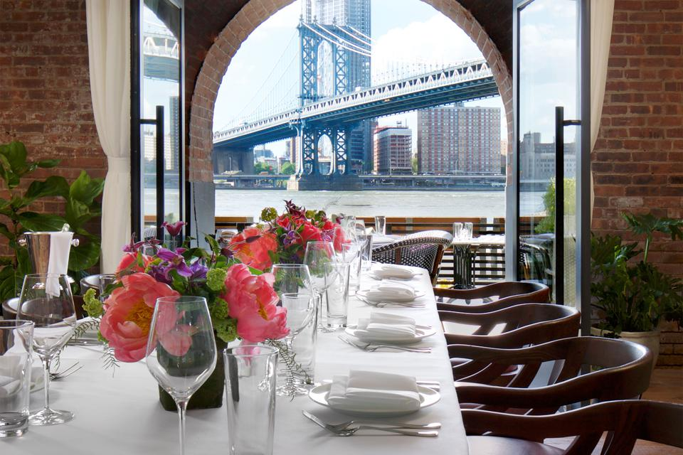 Waterfront views at Cecconi's Dumbo