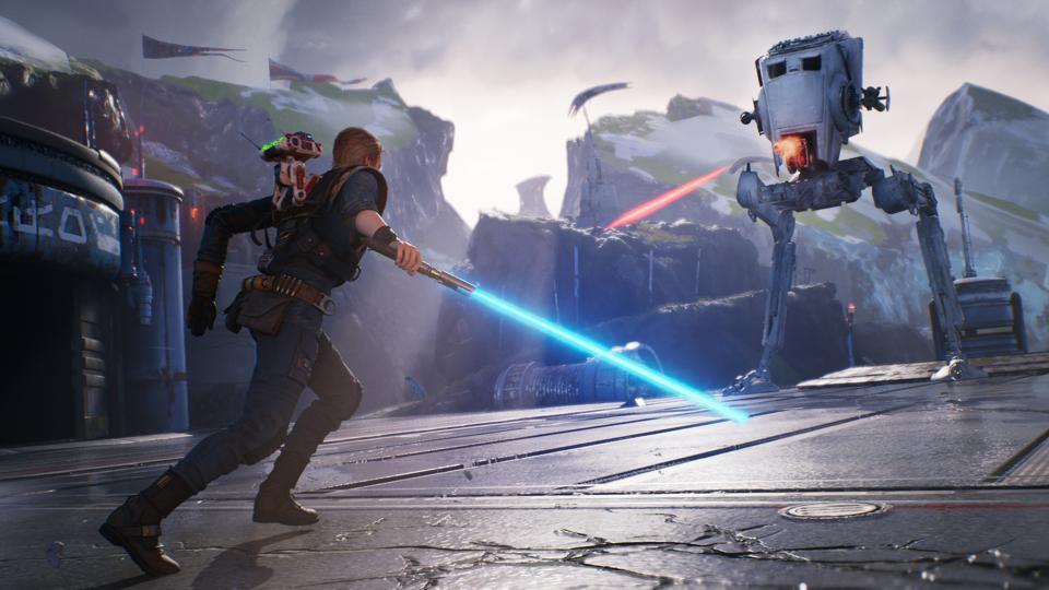 Jedi Fallen Order AT-ST attack