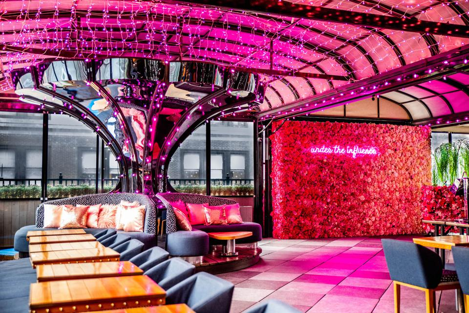 Magic Hour Rooftop Bar & Lounge at Moxy Times Square.