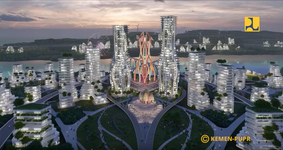 Rendering of the new capital city, 2nd place design winner