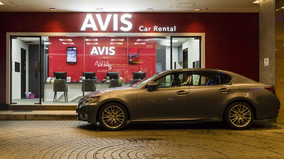 A view of the Avis Rent a Car store in Hong Kong. Avis has pioneered several new features on its app in recent months -- all aimed at improving the customer experience.
