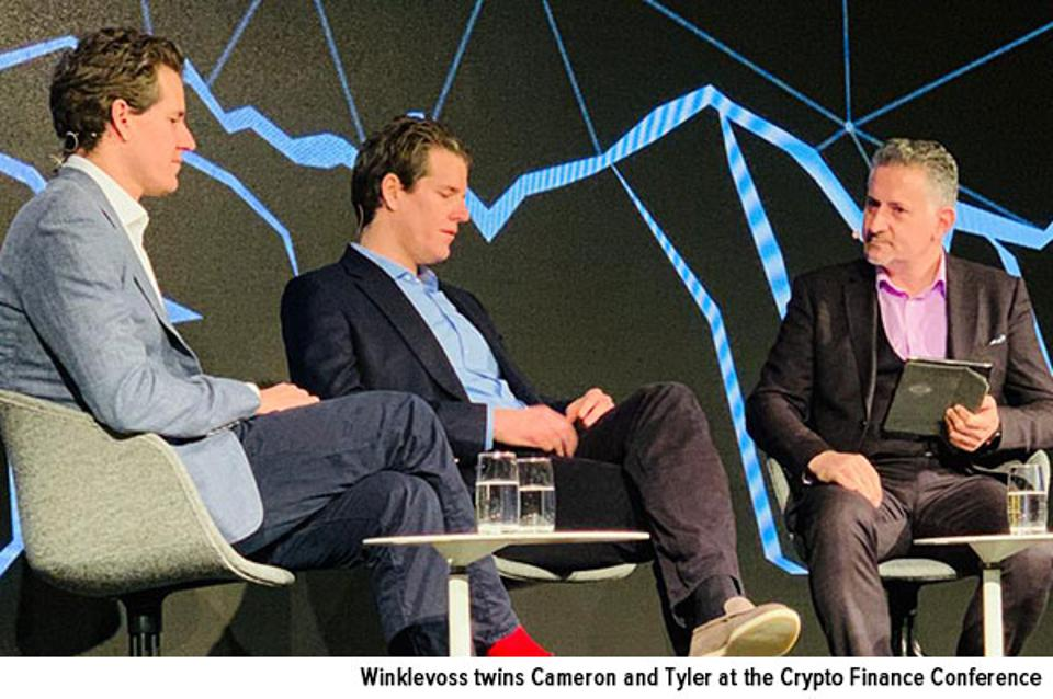 Winklevoss twins Cameron and Tyler at the Crypto Finance Conference January 2020