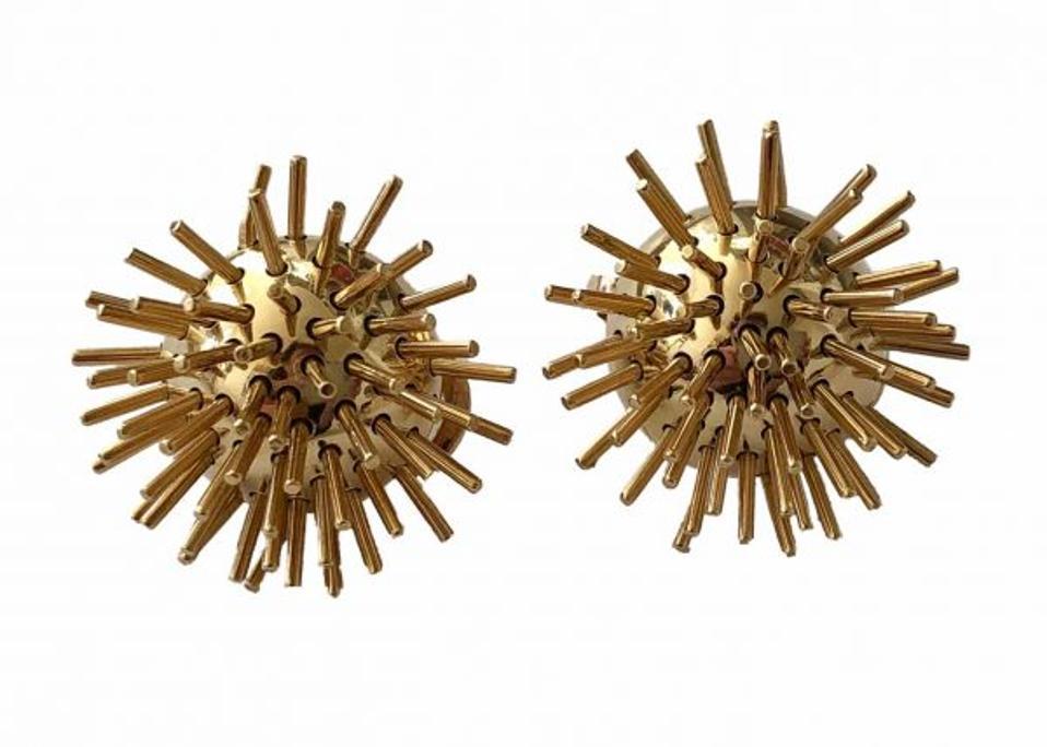 18-karat Pol Bury kinetic earrings DKF Estate Jewelry