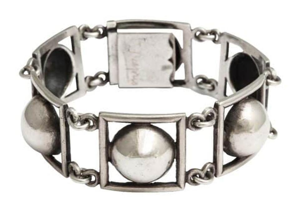 Jean Després Art Deco Machine age sterling silver bracelet DK Farnum Estate Jewelry