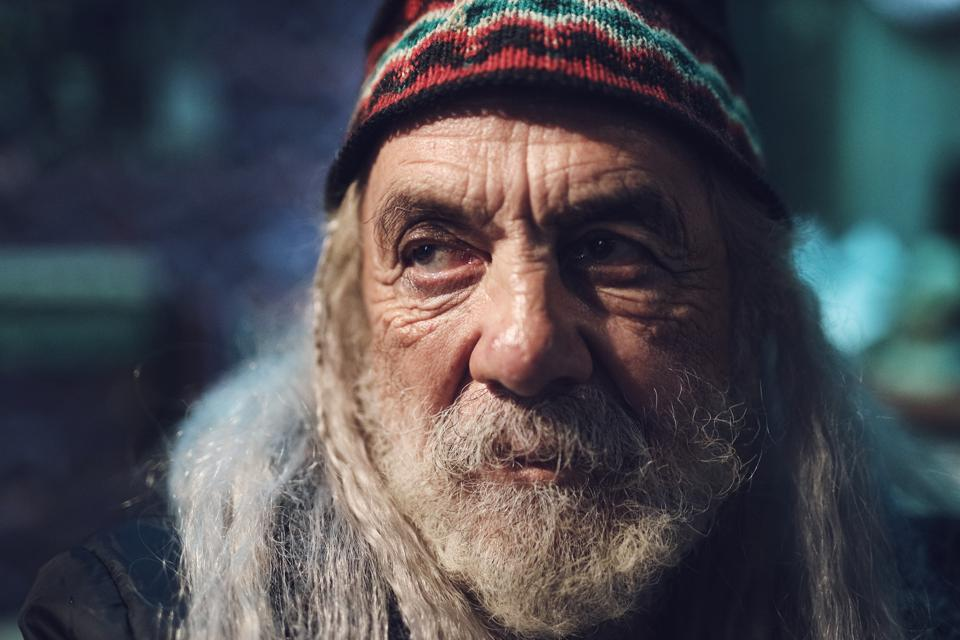 Tommy Chong as Ezra in the sci-fi/horror film 'Color Out of Space' released by RLJE Films