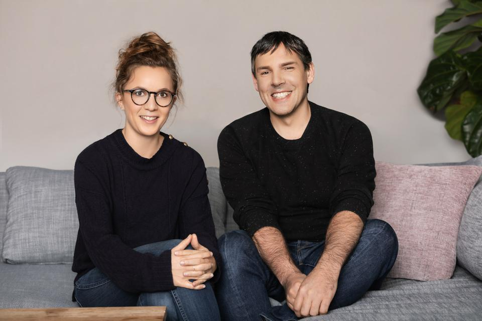 Front CEO Mathilde Collin and CTO Laurent Perrin.