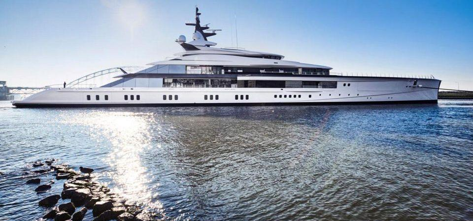 Exclusive photo of Jerry Jones's 357-foot-long Bravo Eugenia at its launch