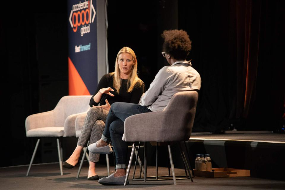 Julie Cordua, CEO of Thorn, speaks at Fast Forward's Accelerate Good Global conference