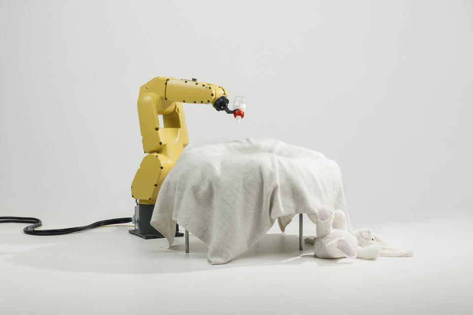 Raising Robotic Natives, designed 2016 by Stephen Bogner, Philipp Schmitt, and Jonas Voigt (Courtesy of the designers) Photograph © Stephan Bogner, Philipp Schmitt, and Jonas Voigt. Image courtesy of Philadelphia Museum of Art, 2019.
