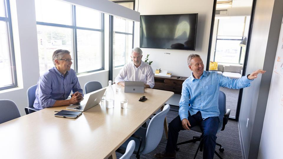Allos Ventures managing partners, from left, David Kerr, John McIlwraith and Don Aquilano.