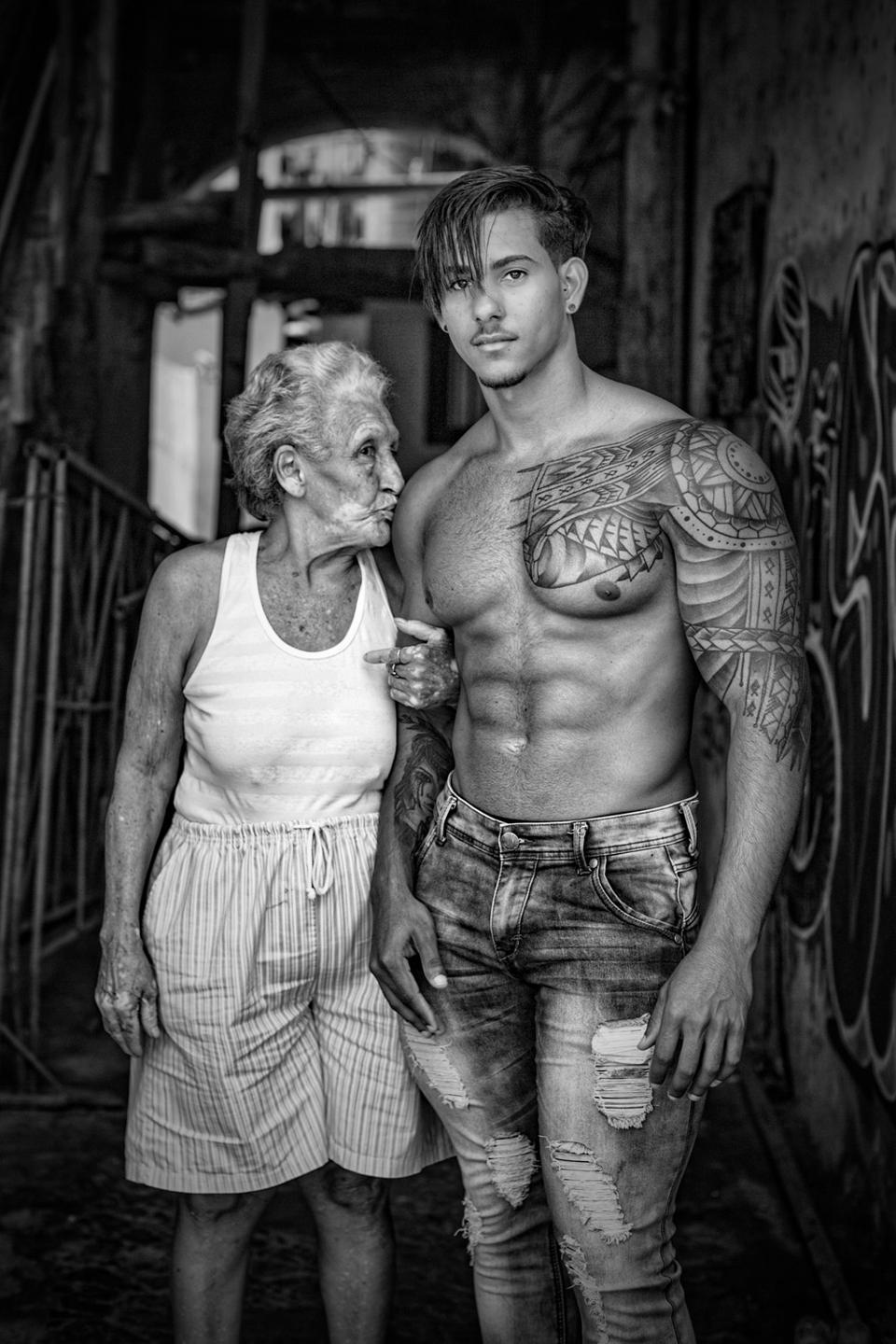 Young, strong man and old lady, Travel Photographer of the Year People's Choice
