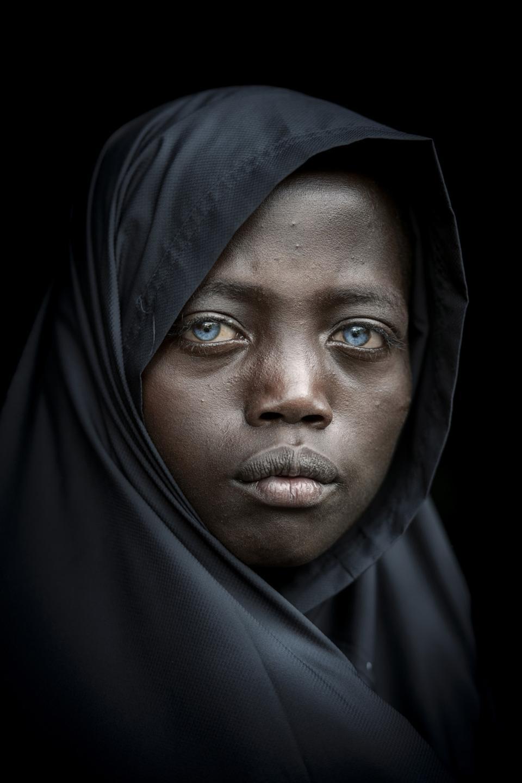 Striking blue eyed Ethiopian sheperd , Art of Travel