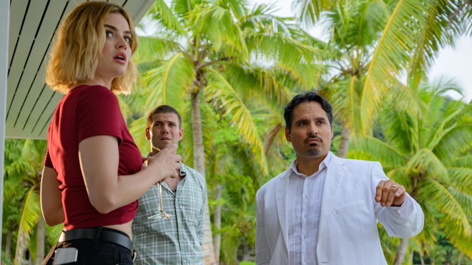 Michael Pena, Lucy Hale, and Austin Stowell in 'Fantasy Island'