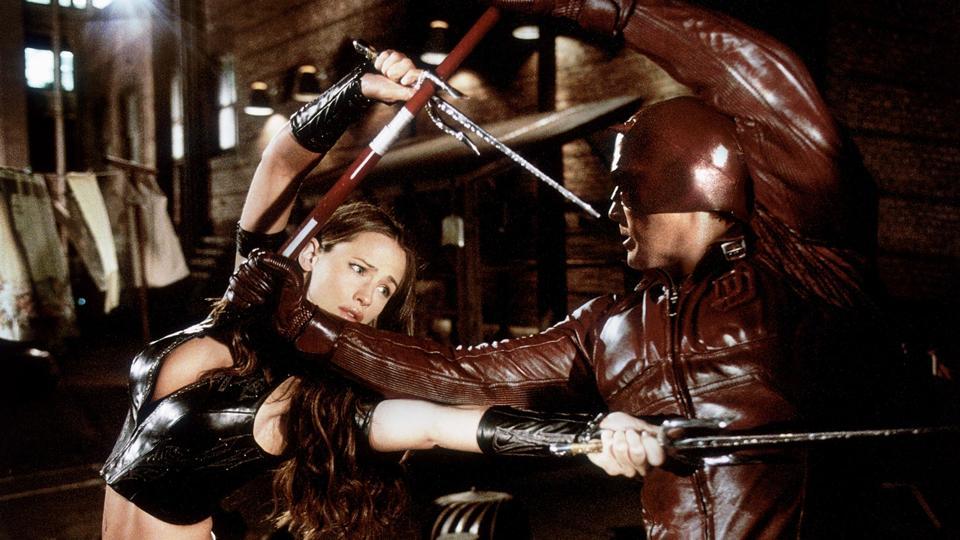 Jennifer Garner and Ben Affleck in 'Daredevil'