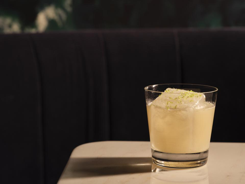 A gimlet riff on the rocks