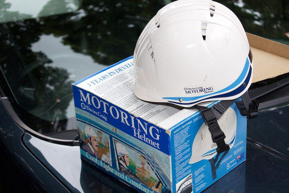 motoring helmet.