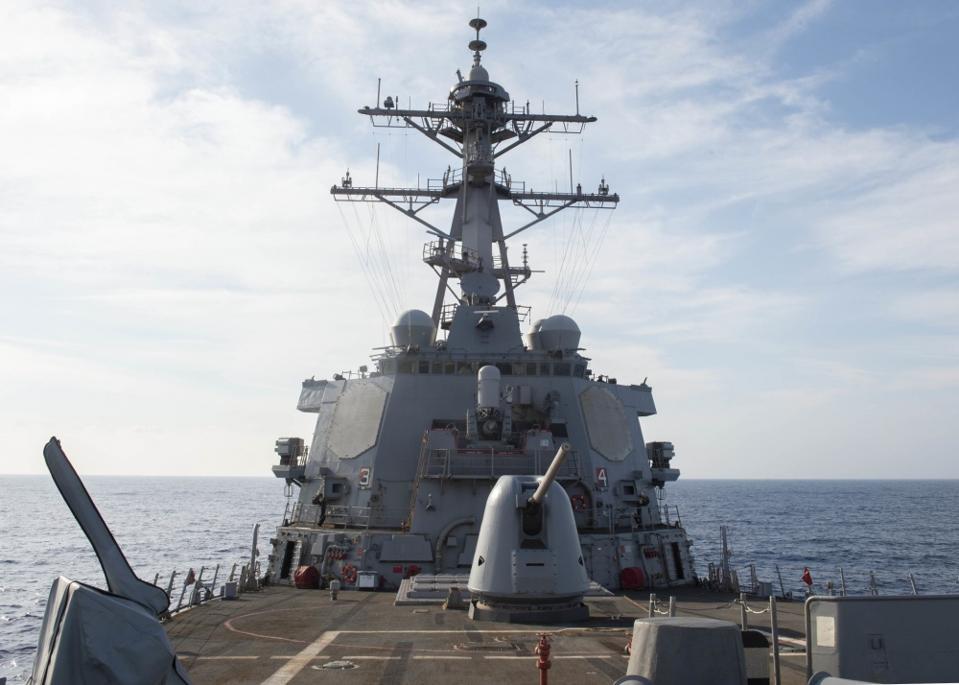 Navy, ship, destroyer, Raytheon radar