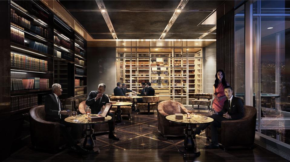 Cigar lounge rendering