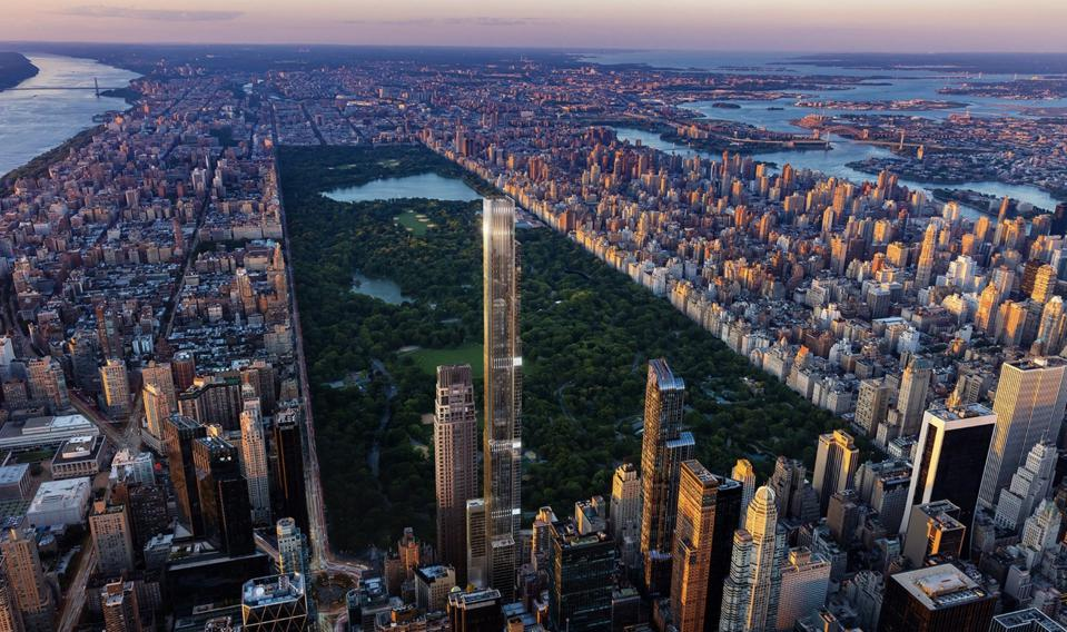 Tallest Residential Building In The World Reveals New Details—Including 100th Floor Amenity Level Overlooking New York City