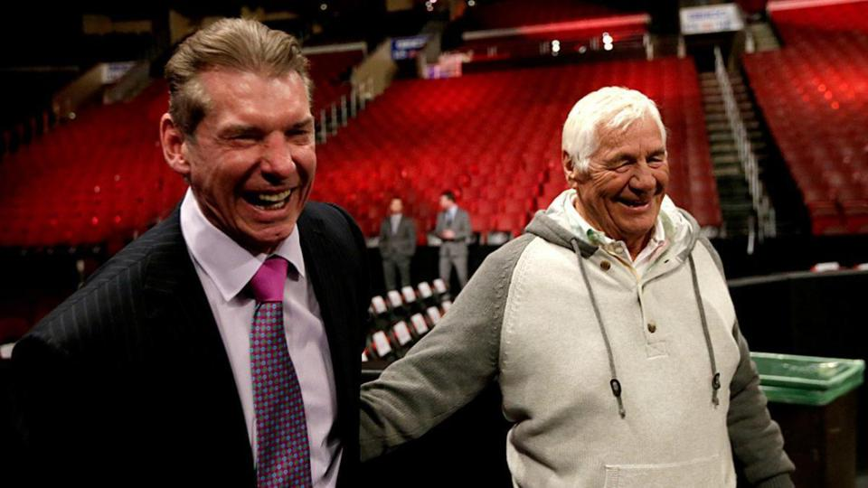 WWE Vince McMahon Pat Patterson Rocky Johnson Funeral
