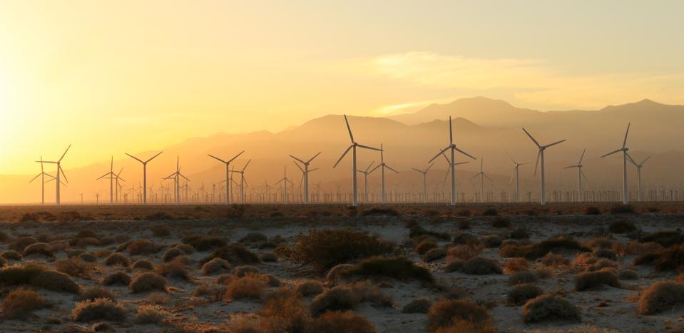 Wind Turbines near Palm Springs, California
