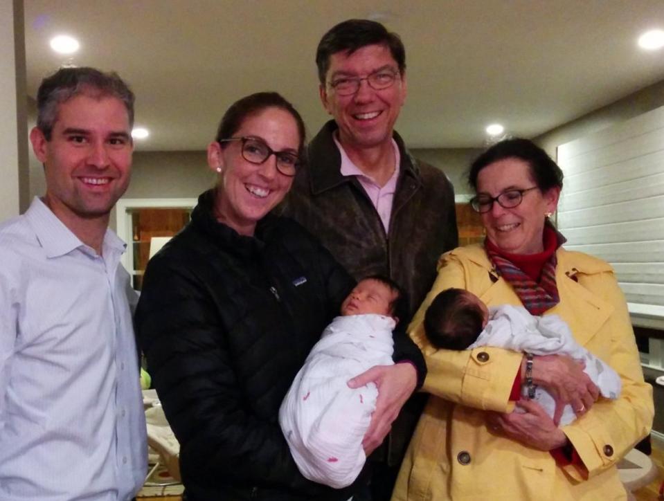 Clayton Christensen, Christine Christensen, Ann Christensen and Michael Horn with Horn's daughters.