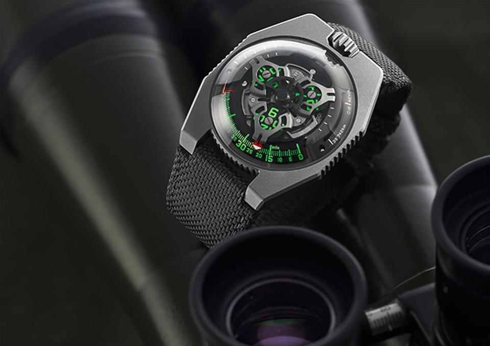 Urwerk UR-100 SpaceTime in Gunmetal