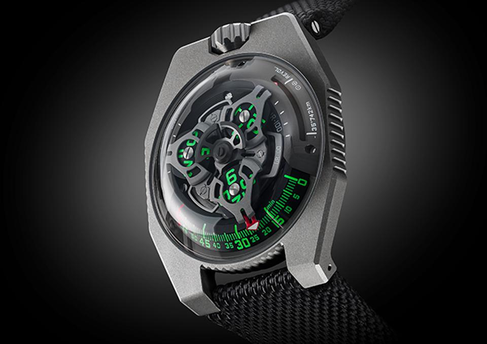 Urwerk UR-100 SpaceTime in Gunmetal.