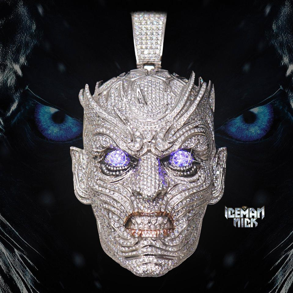 Iceman Nick's Game of Thrones inspired ″Night King″ pendant.