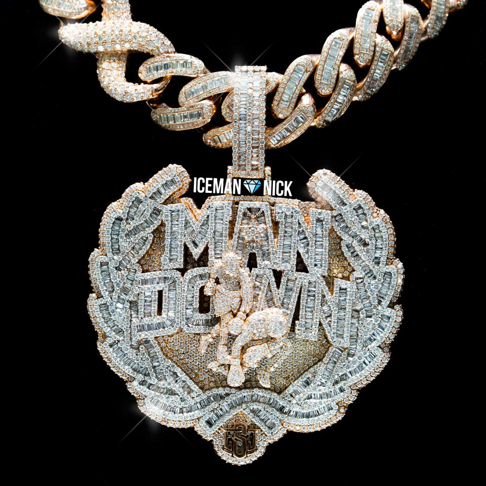 Errol Spence Jr's 400k ″ Man Down Pendant and Chain