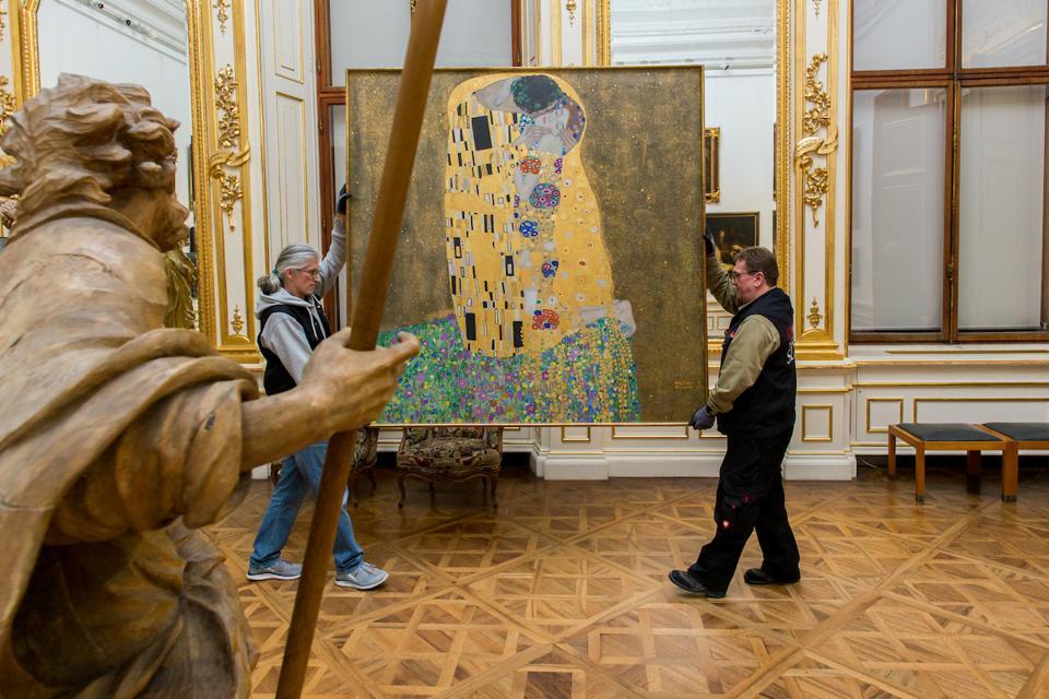 Vienna Austria Belvedere The Kiss by Gustav Klimt
