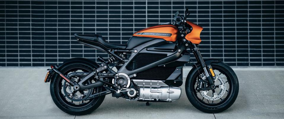 Harely Davidson LiveWire. The company faces challenges getting lots of customers to come around to an electric Harley.