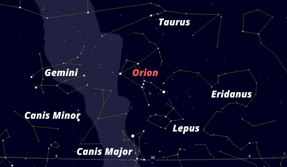 How to find the constellation of Orion.