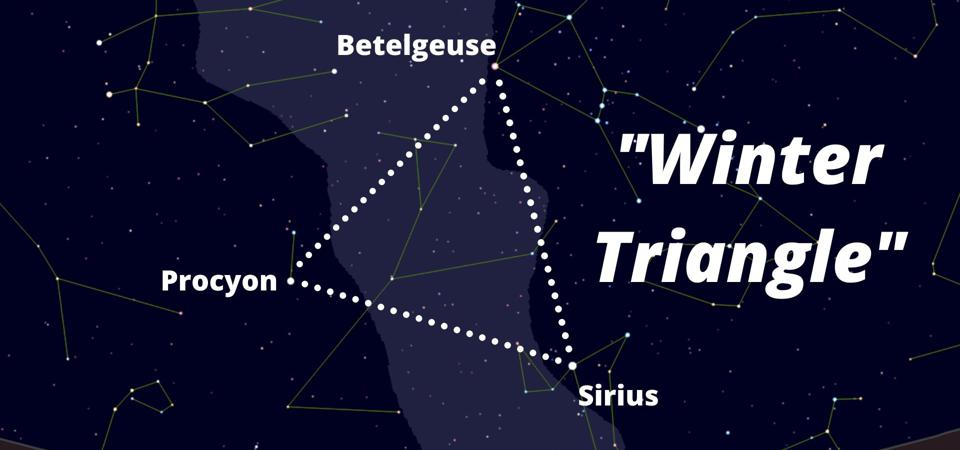 How to find the ″winter triangle″