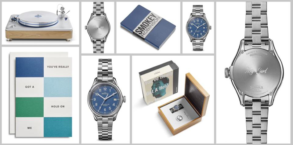 Shinola Smokey Robinson Great American Series collection of products.