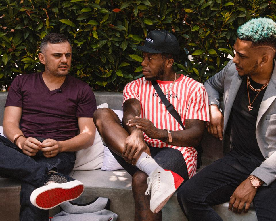 Gary Vaynerchuk (left), Nate Robinson (middle) and Napoleon ″Polo″ Kerber (right)