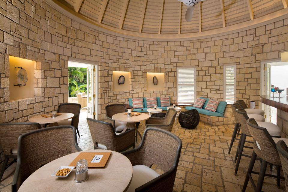 Sugar Reef bar is part of the Curtain Bluff culinary experience.
