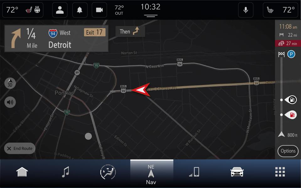 FCA's Uconnect 5 Plus has TomTom maps and navigation built in as well as support for wireless Apple CarPlay and Android Auto so you can use the navigation provider of your choice