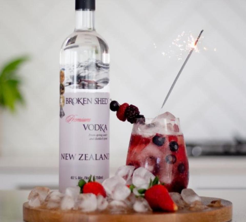 Broken Shed's vodka & cranberry